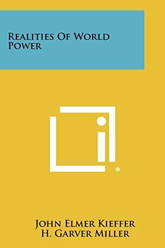 9781258290955: Realities Of World Power