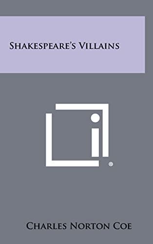 9781258294113: Shakespeare's Villains