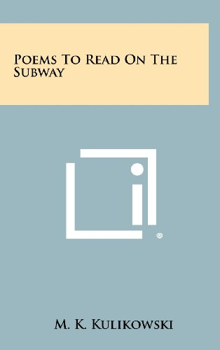9781258295226: Poems to Read on the Subway