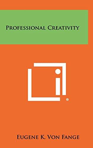 9781258295264: Professional Creativity