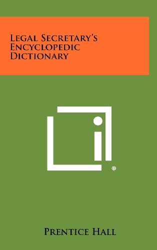 9781258298500: Legal Secretary's Encyclopedic Dictionary