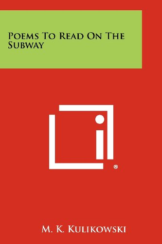 9781258299385: Poems to Read on the Subway