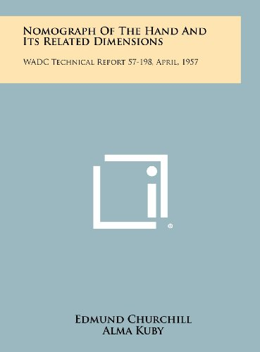 9781258306236: Nomograph of the Hand and Its Related Dimensions: Wadc Technical Report 57-198, April, 1957