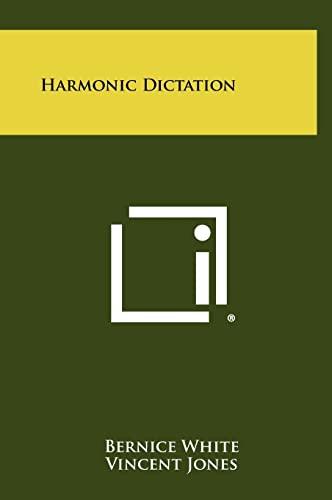9781258307301: Harmonic Dictation