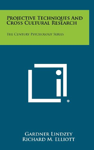 9781258309725: Projective Techniques and Cross Cultural Research: The Century Psychology Series