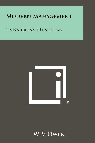 9781258315474: Modern Management: Its Nature and Functions