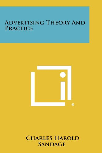 9781258316105: Advertising Theory and Practice