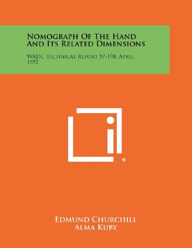 9781258316501: Nomograph of the Hand and Its Related Dimensions: Wadc Technical Report 57-198, April, 1957