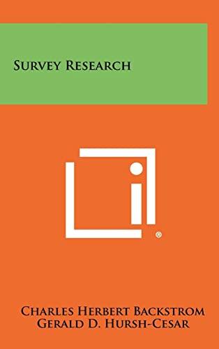 9781258329921: Survey Research