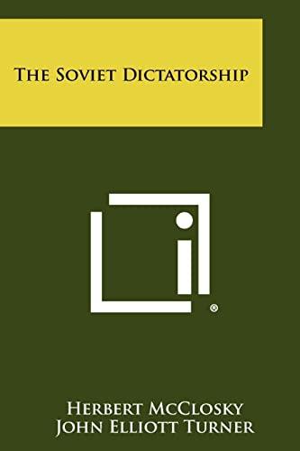 9781258386481: The Soviet Dictatorship