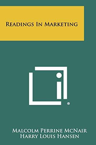 9781258411473: Readings in Marketing