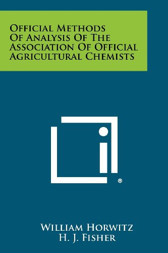 9781258423315: Official Methods of Analysis of the Association of Official Agricultural Chemists