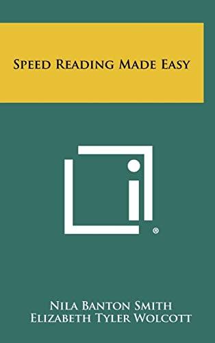 Speed Reading Made Easy (1258425394) by Nila Banton Smith