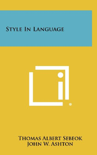 9781258426071: Style in Language