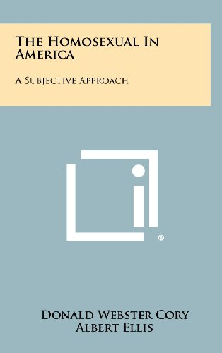 9781258444112: The Homosexual In America: A Subjective Approach