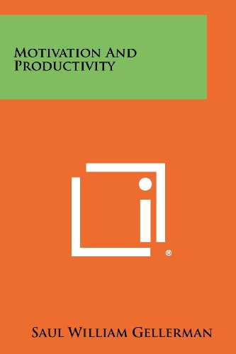 9781258450946: Motivation and Productivity