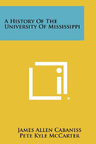 A History of the University of Mississippi: James Allen Cabaniss