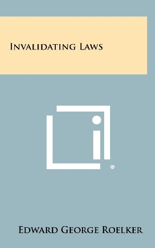 9781258478261: Invalidating Laws