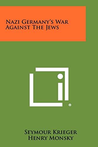 9781258508272: Nazi Germany's War Against The Jews