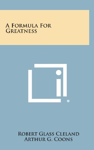 9781258545482: A Formula for Greatness
