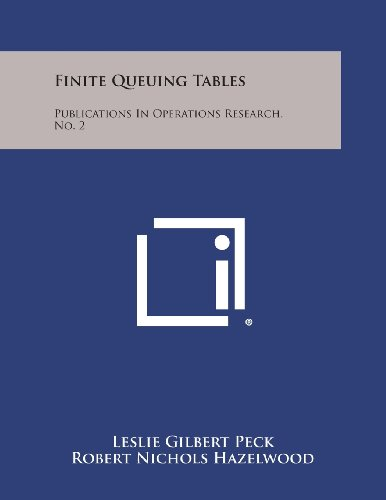9781258554477: Finite Queuing Tables: Publications in Operations Research, No. 2
