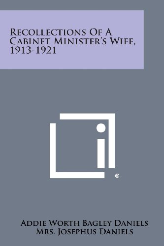 9781258566906: Recollections of a Cabinet Minister's Wife, 1913-1921