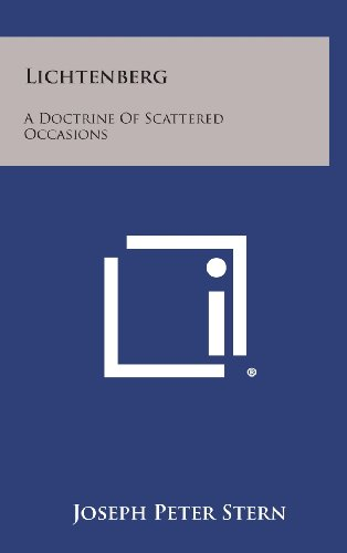 9781258570057: Lichtenberg: A Doctrine of Scattered Occasions