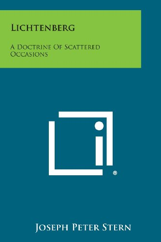 9781258579937: Lichtenberg: A Doctrine Of Scattered Occasions