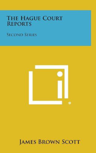 9781258607210: The Hague Court Reports: Second Series