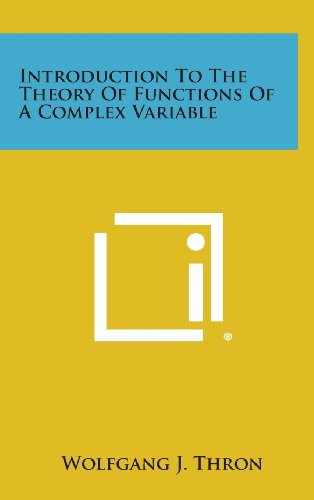 9781258619480: Introduction to the Theory of Functions of a Complex Variable