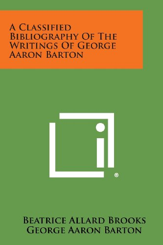 A Classified Bibliography of the Writings of: Beatrice Allard Brooks,