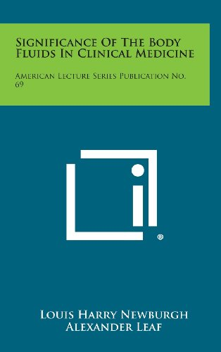 9781258638740: Significance of the Body Fluids in Clinical Medicine: American Lecture Series Publication No. 69