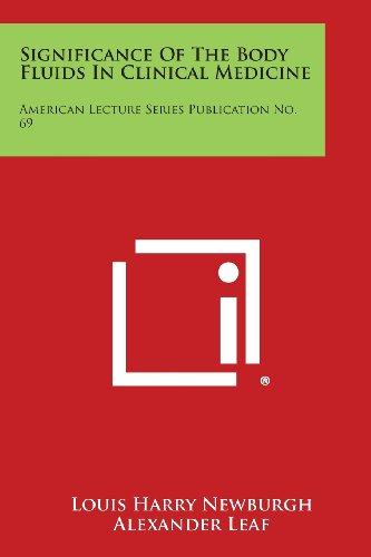 9781258645922: Significance of the Body Fluids in Clinical Medicine: American Lecture Series Publication No. 69