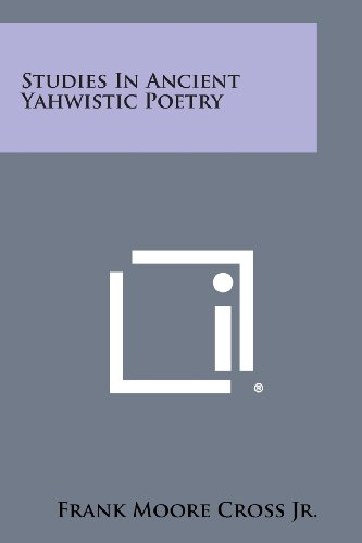 9781258658885: Studies in Ancient Yahwistic Poetry