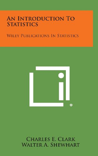 9781258663476: An Introduction to Statistics: Wiley Publications in Statistics