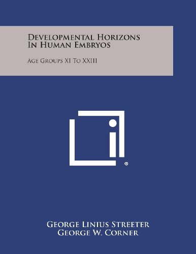 9781258668679: Developmental Horizons in Human Embryos: Age Groups XI to XXIII