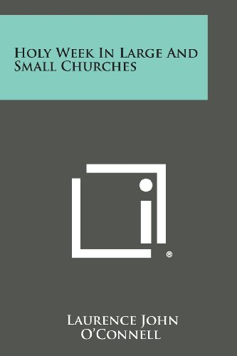 9781258669003: Holy Week in Large and Small Churches
