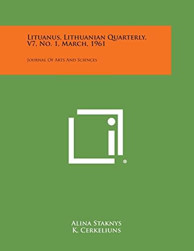 Lituanus, Lithuanian Quarterly, V7, No. 1, March,