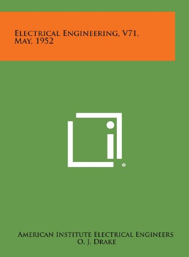 9781258753726: Electrical Engineering, V71, May, 1952