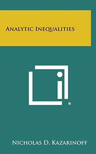 9781258765767: Analytic Inequalities