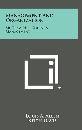 9781258780890: Management and Organization: McGraw-Hill Series in Management