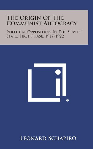 9781258781149: The Origin of the Communist Autocracy: Political Opposition in the Soviet State, First Phase, 1917-1922