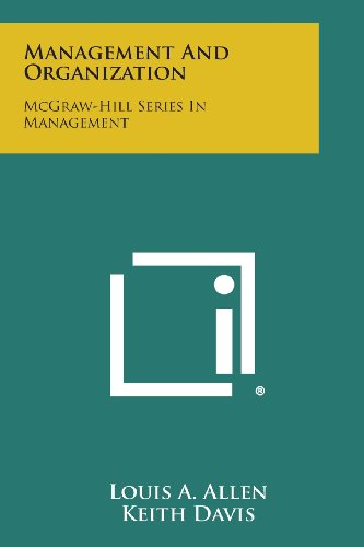9781258784904: Management and Organization: McGraw-Hill Series in Management