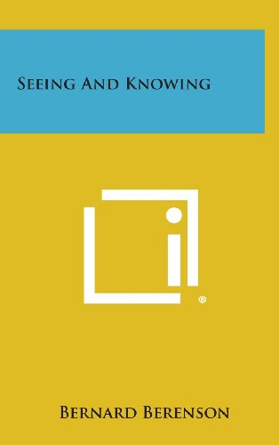 9781258787035: Seeing and Knowing