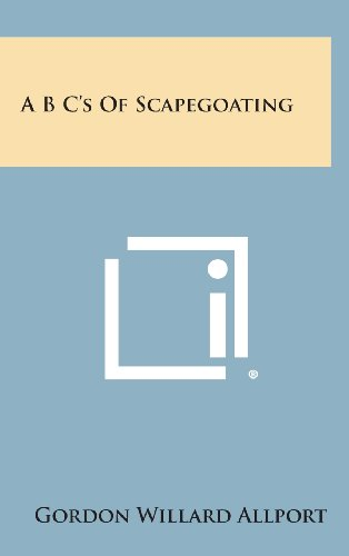 9781258801465: A B C's of Scapegoating