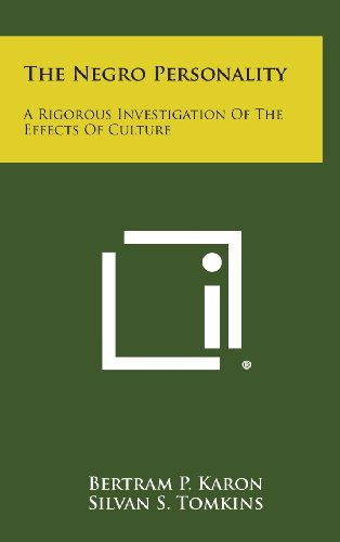 9781258802530: The Negro Personality: A Rigorous Investigation of the Effects of Culture