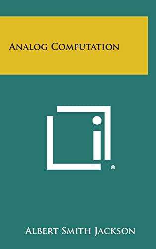 9781258810795: Analog Computation