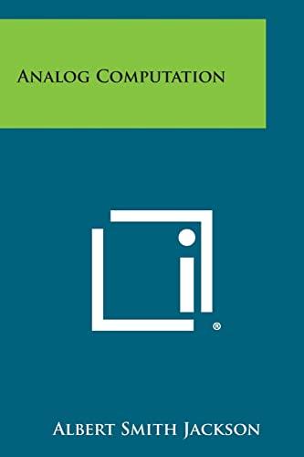 9781258814052: Analog Computation