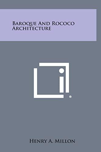 9781258814755: Baroque and Rococo Architecture