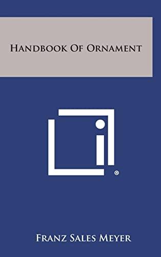 9781258817084: Handbook of Ornament